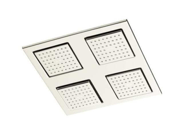 KOHLER K-8030-SN WaterTile Square Rain Overhead Showering Panel - Polished Nickel