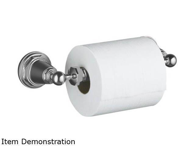 KOHLER K-13114-CP Pinstripe Toilet Tissue Holder - Polished Chrome