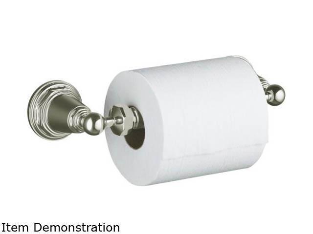 KOHLER K-13114-SN Pinstripe Toilet Tissue Holder - Polished Nickel