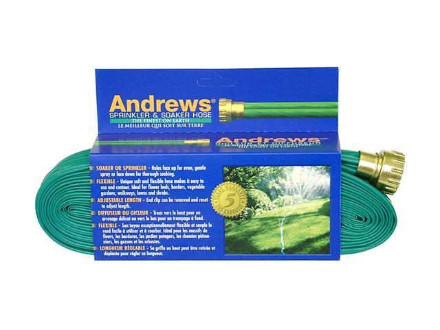 A.M. Andrews 10-12349 100 feet 2-Tube Green Sprinkler & Soaker Hoses