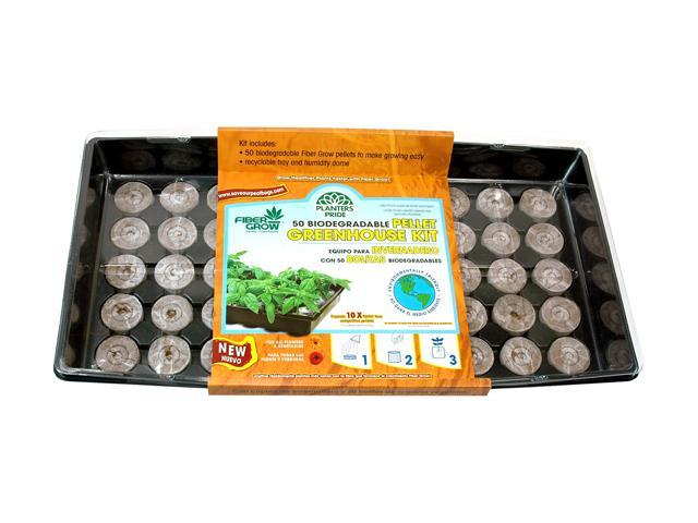 50-Count Fiber Grow Pellets Greenhouse Kit