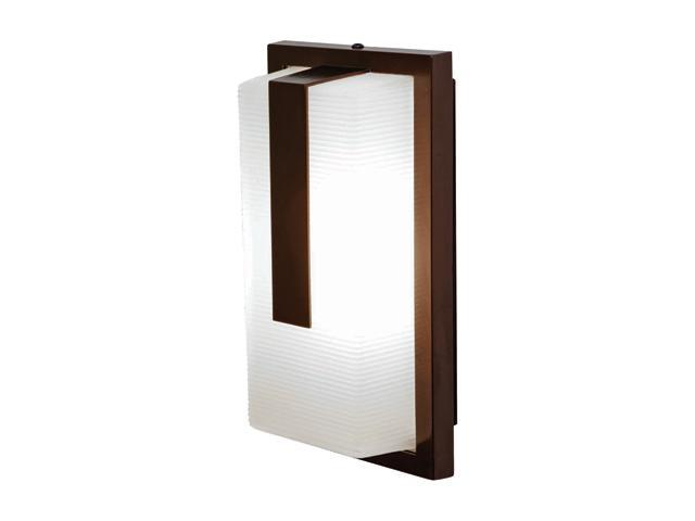 Access Lighting Neptune Contemporary Bronze Wet Location Wall Fixture - 1 Light Bronze Finish w/ Ribbed Frosted Glass
