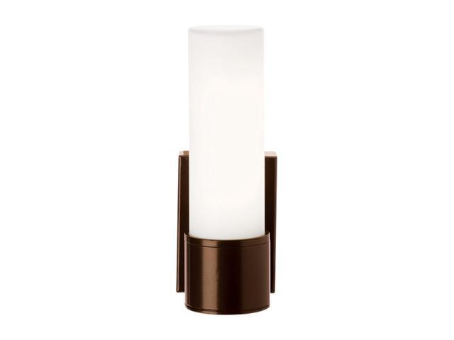 Access Lighting Nyz Contemporary Bronze Wet Location Wall Fixture - 1 Light Bronze Finish w/ Opal Glass