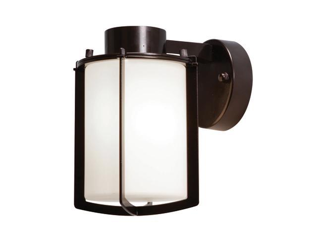 Access Lighting Totana Contemporary Bronze Wet Location Wall Fixture - 1 Light Bronze Finish w/ Opal Glass