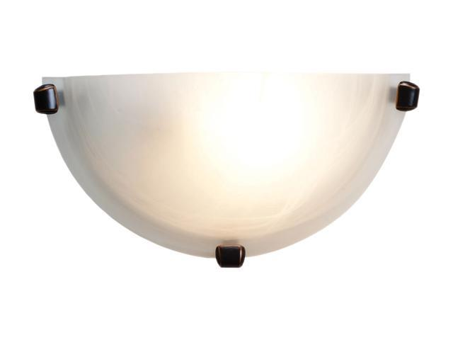 Access Lighting Mona Wall Sconce - 1 Light Oil Rubbed Bronze Finish w/ Alabaster Glass
