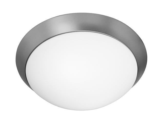 Access Lighting Cobalt Flush - 1 Light Brushed Steel Finish w/ Opal Glass Brushed Steel Flush Mount Lighting