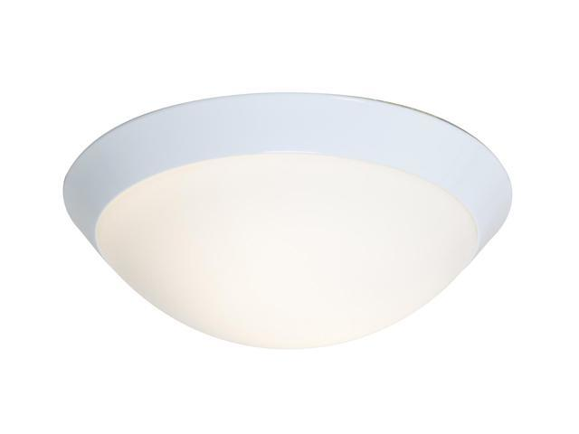 Access Lighting Cobalt Flush - 1 Light White Finish w/ Opal Glass White Flush Mount Lighting