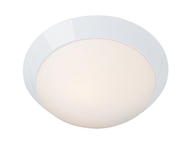 Access Lighting Cobalt Flush - 2 Light White Finish w/ Opal Glass White Flush Mount Lighting