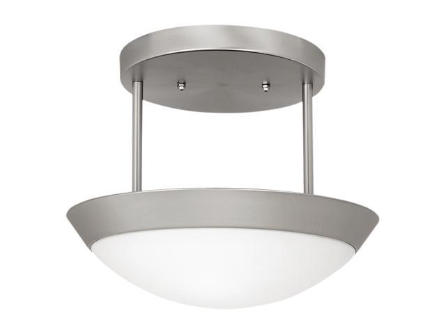 Access Lighting Cobalt Semi - 2 Light Brushed Steel Finish w/ Opal Glass Brushed Steel Semi Flush