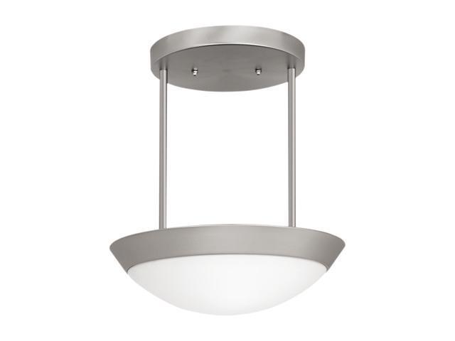 Access Lighting Cobalt Semi - 3 Light Brushed Steel Finish w/ Opal Glass Brushed Steel Semi Flush