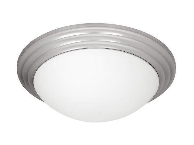 Access Lighting Strata Flush - 1 Light Brushed Steel Finish w/ Opal Glass Brushed Steel Flush Mount Lighting