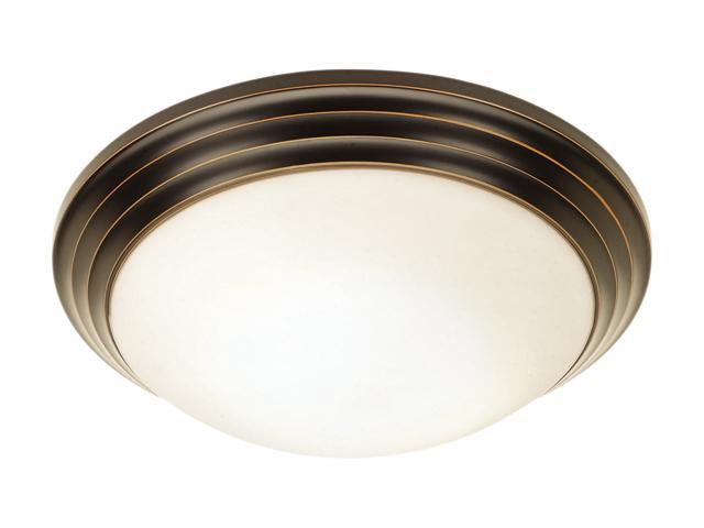 Access Lighting Strata Flush - 1 Light Oil Rubbed Bronze Finish w/ Opal Glass Oil-rubbed bronze Flush Mount Lighting