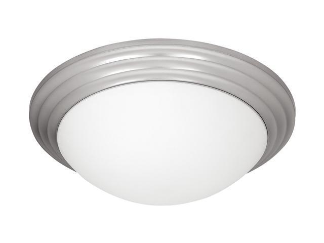 Access Lighting Strata Flush - 3 Light Brushed Steel Finish w/ Opal Glass Brushed Steel Flush Mount Lighting
