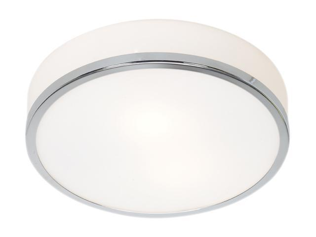 Access Lighting Aero Flush - 1 Light Chrome Finish w/ Opal Glass Chrome Flush Mount Lighting