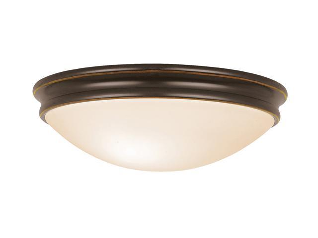 Access Lighting Atom Flush - 1 Light Oil Rubbed Bronze Finish w/ Opal Glass Oil-rubbed bronze Flush Mount Lighting