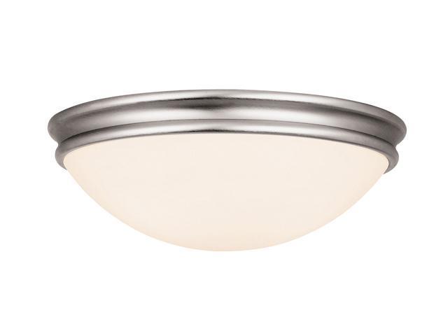 Access Lighting Atom Flush - 2 Light Brushed Steel Finish w/ Opal Glass Brushed Steel Flush Mount Lighting
