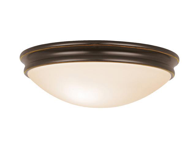 Access Lighting Atom Flush - 2 Light Oil Rubbed Bronze Finish w/ Opal Glass Oil-rubbed bronze Flush Mount Lighting