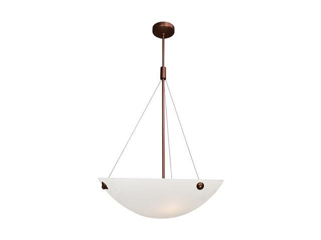 Access Lighting Noya Cable Pendant - 4 Light Bronze Finish w/ Alabaster Glass