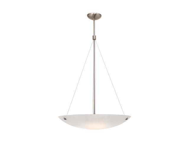 Access Lighting Noya Cable Pendant - 5 Light Brushed Steel Finish w/ Alabaster Glass