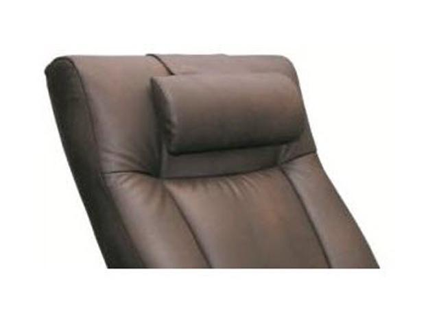Oslo Collection Palace Hickory Brown Bonded Leather Cervical Pillow