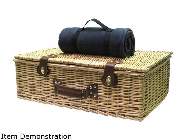 Picnic Pack SGI-WB01 Willow Picnic Basket for 4 Navy Blue