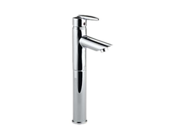DELTA 585LF-V Grail Single Handle Centerset Lavatory Faucet with Riser - Less Pop-Up Polished Chrome