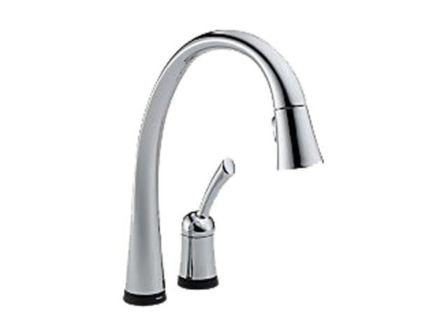 DELTA 980T-DST Pilar Single Handle Pull-Down Kitchen Faucet with Touch2O Technology Chrome