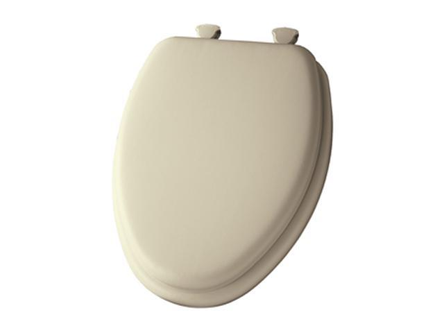 Bemis 113EC 006 Soft Elongated Closed Front Toilet Seat, Bone