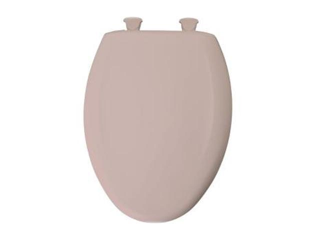Bemis 1200SLOWT 063 Whisper Close Elongated Closed Front Toilet Seat, Venetian Pink