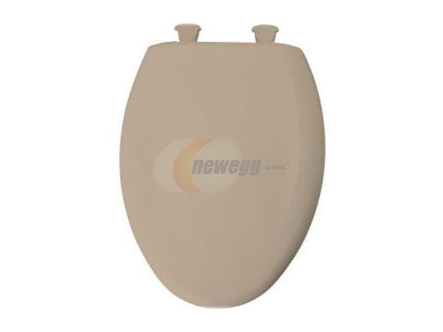 Bemis 1200SLOWT 088 Whisper Close Elongated Closed Front Toilet Seat, Tan