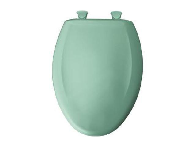 Bemis 1200SLOWT 165 Whisper Close Elongated Closed Front Toilet Seat, Ming Green