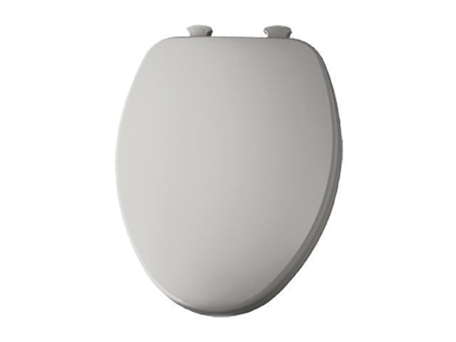Bemis 585EC 162 Elongated Closed Front Toilet Seat w/EZ Clean Hinges, Silver