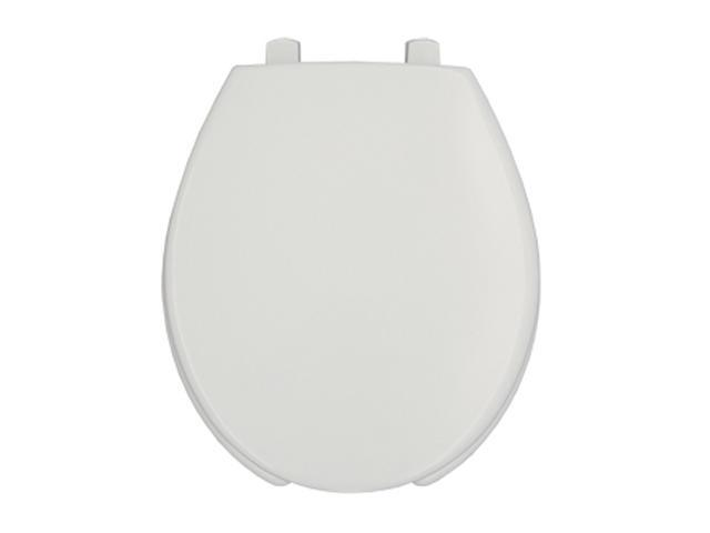 Bemis 7750TDG 000 Round Front Toilet Seat, Open Front w/Cover, White