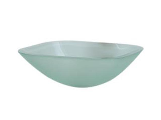 Decolav 1139T-FNG Square 19mm Glass Vessel, Frosted Natural Glass