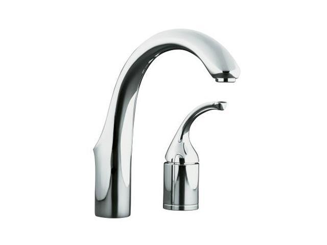 KOHLER K-10443-CP Forte Entertainment Kitchen Sink Faucet, Less Sidespray Polished Chrome