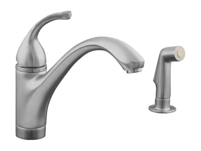 Kohler Stainless Steel Kitchen Faucets : ... Kitchen Sink Faucet and Lever Handle Stainless Steel Kitchen Faucet