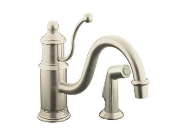 KOHLER K-169-BN Antique Single-control Kitchen Sink Faucet with Color ...