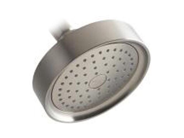 KOHLER K-965-AK-BN Purist Single-function Katalyst Showerhead, Brushed Nickel