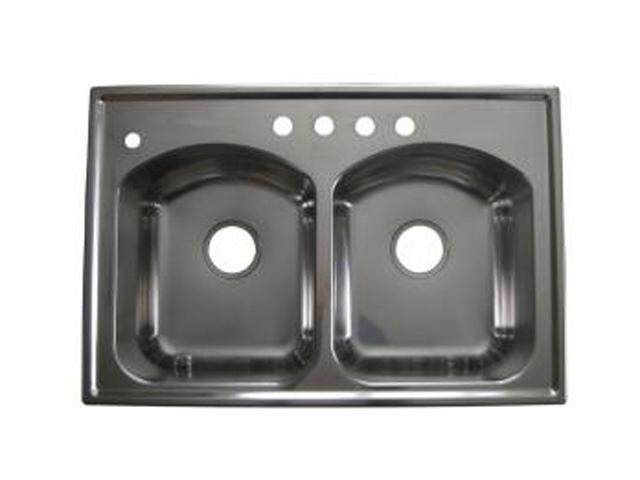 American Standard 7502.403.075 Culinaire Top Mount Double Bowl Kitchen Sink