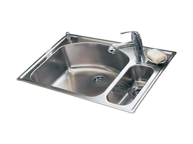 American Standard 7504.103.075 Culinaire Top Mount Dual Level Kitchen Sink