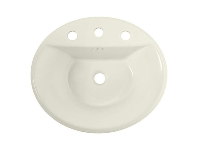 American Standard 0405.008EC.222 Tropic Oval Countertop Sink, 8