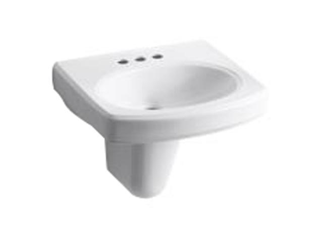 Kohler K-2035-4-0 Pinoir Wall-mount Lavatory with 4
