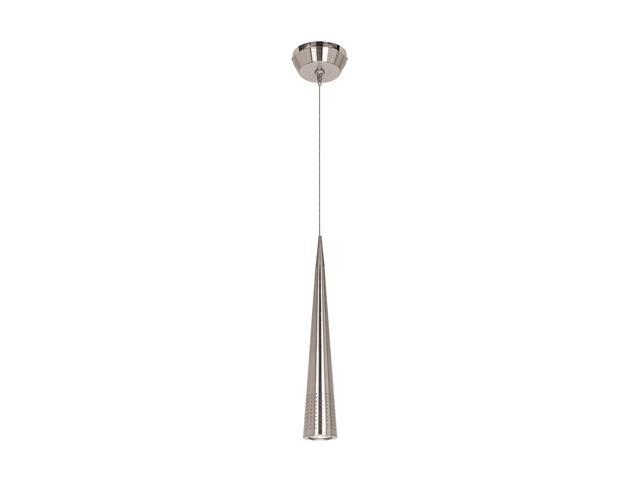 Access Lighting Apollo Pendant including Monopod - 1 Light Brushed Steel Finish