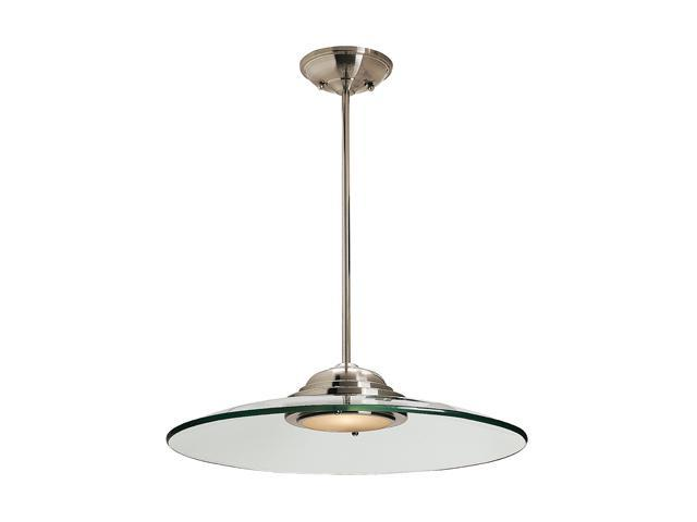 Access Lighting Phoebe 1 Light Brushed Steel Finish w/ 8mm Clear Glass Brushed Steel Semi Flush