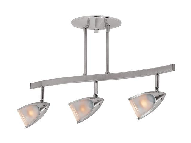 Access Lighting Comet 3 Light Brushed Steel Finish w/ Opal Glass Brushed Steel Semi Flush