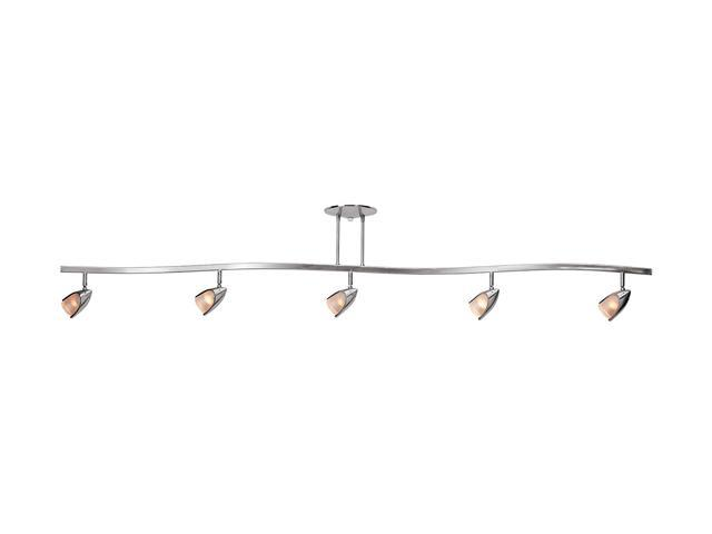 Access Lighting Comet 5 Light Brushed Steel Finish w/ Opal Glass Brushed Steel Semi Flush