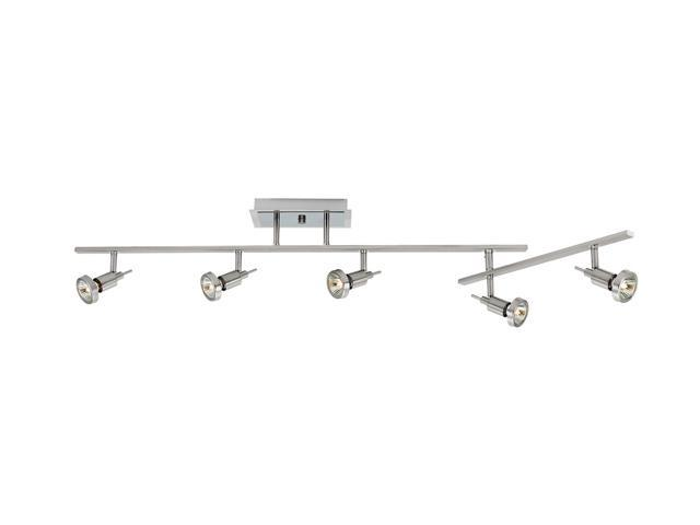Access Lighting Viper Semi Flush with Articulating Arm - 5 Light Brushed Steel Finish Brushed Steel Semi Flush