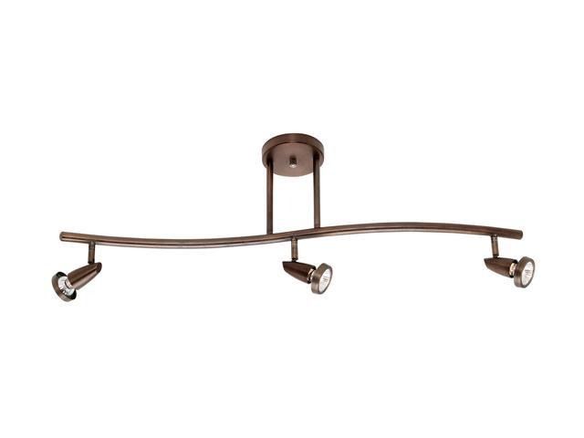 Access Lighting Mirage 3 Light Bronze Finish Bronze Semi Flush