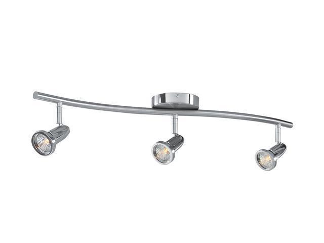 Access Lighting Cobra Wall or Ceiling Spotlight Bar - 3 Light Brushed Steel Finish