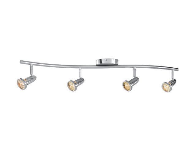 Access Lighting Cobra Wall or Ceiling Spotlight Bar - 4 Light Brushed Steel Finish